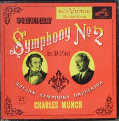 シャルル・ミュンシュ 〜 ボストン交響楽団  シューベルト 交響曲 第2番 変ロ長調 (3枚組)