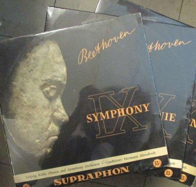 H. アーベントロート 〜 ライプツィヒ放送 Cho. & Orc.  ベートーヴェン 交響曲 第9番「合唱付き」 / フィデリオ & エグモント序曲 (3枚組 / 10インチ)