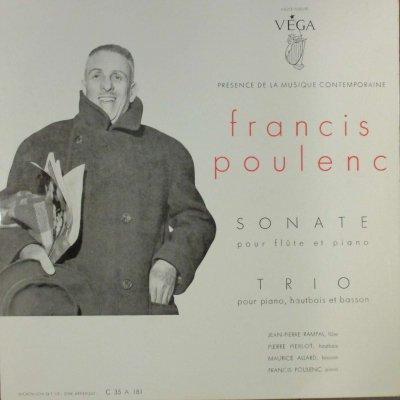 J. P. ランパル / P. ピエルロ / M. アラール / F. プーランク  プーランク フルート・ソナタ / ピアノ,オーボエとファゴットのための三重奏曲 (10インチ)