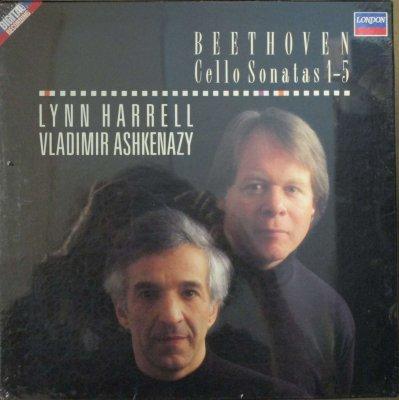 リン・ハレル 〜 ウラディーミル・アシュケナージ   ベートーヴェン 5つのチェロ・ソナタ (2枚組 / 未使用シールド)