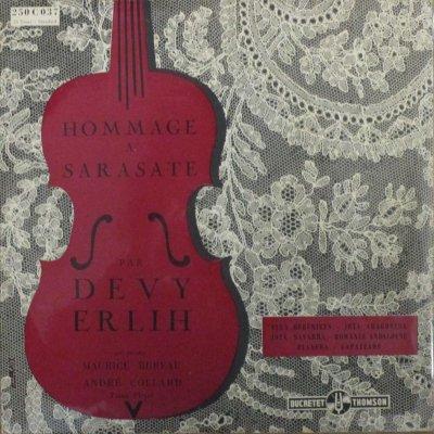 ドゥヴィ・エルリー  〜 アンドレ・コラール   サラサーテ ヴァイオリン小品集 (10インチ)