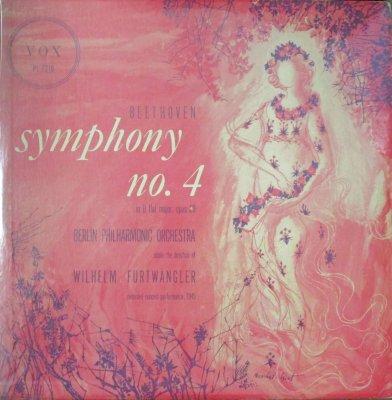 ウィルヘルム・フルトヴェングラー 〜 ベルリン・フィル   ベートーヴェン 交響曲 第4番 変ロ長調