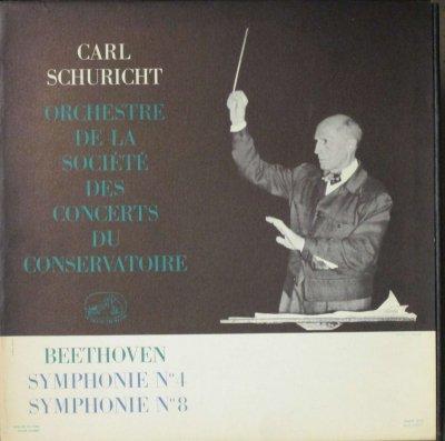 カール・シューリヒト 〜 パリ音楽院 Orc.   ベートーヴェン 交響曲 第4番 & 第8番