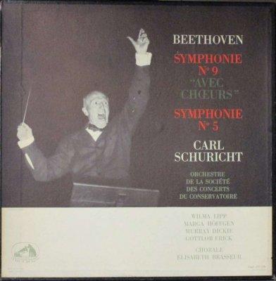カール・シューリヒト 〜 パリ音楽院 Orc. / W. リップ / M. ヘフゲン 他   ベートーヴェン 交響曲 第9番 「合唱付き」 & 第5番 「運命」 (2枚組)