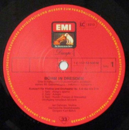 LPレコード カール・ベーム / J. ダーメン / E. フィッシャー他 ベーム ...
