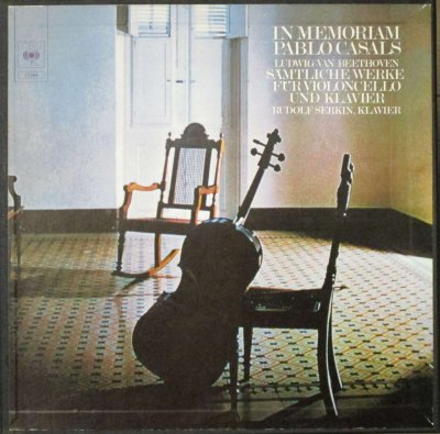 パブロ・カザルス & ルドルフ・ゼルキン   ベートーヴェン 5つのチェロ・ソナタ & 2つの変奏曲 (3枚組)