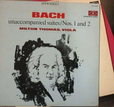 ミルトン・トーマス   バッハ 無伴奏チェロ組曲 全曲 〜 ヴィオラで演奏 (3枚組・分冊)