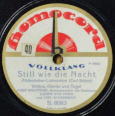 J. ヴォルフシュタール / I. フォン・パティ / C. スタベルナック  C. ボーム 夜のように静かに / ゴダール ジョスランの子守歌