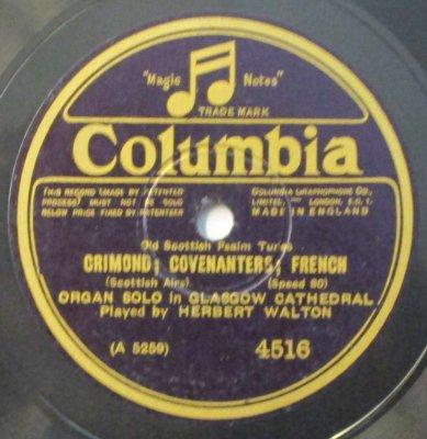 ハーバート・ウォルトン  スコットランドの古い聖歌 CRIMOND ; COVENANTERS ; FRENCH / STRACATHRO (10インチ / 80回転)