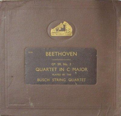 ブッシュ弦楽四重奏団  ベートーヴェン 弦楽四重奏曲 第9番 ハ長調 「ラズモフスキー 第3番」 (4枚組)