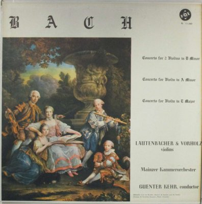 S. ラウテンバッハー / D. ヴォルホルツ / G. ケール 〜 マインツ室内 Orc.  バッハ 2つのヴァイオリンのための協奏曲 / ヴァイオリン協奏曲 第1番 & 第2番
