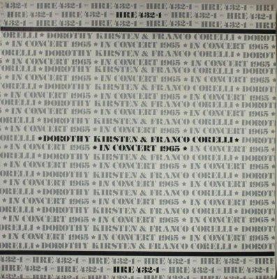 ドロシー・カースティン & フランコ・コレッリ   イン・コンサート 1965  ルイーズ 〜 その日から / トスカ 〜 妙なる調和 & 歌に生き恋に生き 他