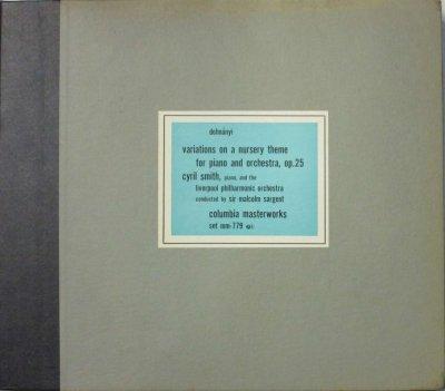 シリル・スミス / M. サージェント 〜 リヴァプール・フィル   ドホナーニ 童謡の主題のよる変奏曲 「きらきら星」 (3枚組)