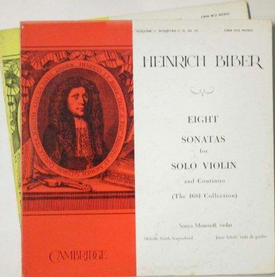 ソーニャ・モノソフ / メルヴィル・スミス / ヤーノシュ・ショルツ   ビーバー 8つのヴァイオリン・ソナタ (2枚組)