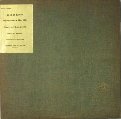 ヘルベルト・フォン・カラヤン 〜 フィルハーモニア Orc. / ベルナルド・ウォルトン  モーツァルト 交響曲 第39番 変ホ長調 / クラリネット協奏曲 イ長調