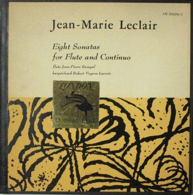 ジャン=ピェール・ランパル 〜 ロベール・ヴェイロン=ラクロワ  ルクレール 8つのフルート・ソナタ (2枚組)