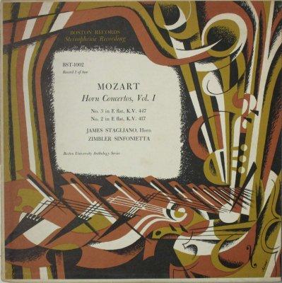 ジェームス・スタグリアーノ 〜 ジンブラー・シンフォニエッタ  モーツァルト ホルン協奏曲 第3番 & 第2番