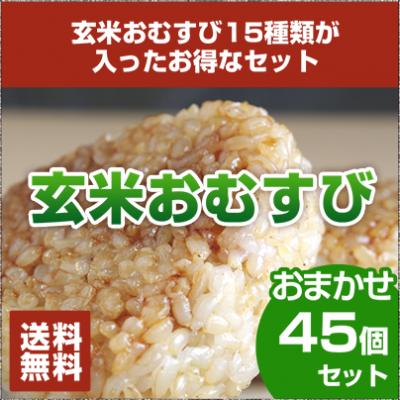 【送料無料】玄米おむすび おまかせ45個セット
