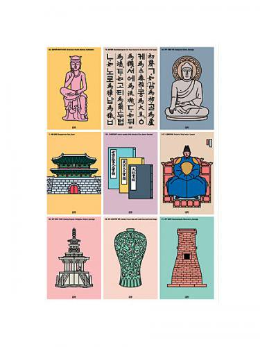 韓国の国宝はがきセットno.1(9シート)