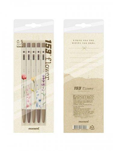韓国モナミ153フラワーボールペンセット