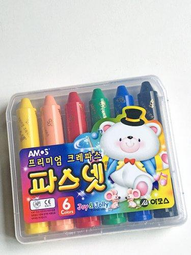 韓国クレヨンパスネット(6色)