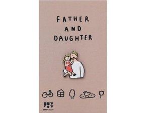 パパと娘 ピンバッジ
