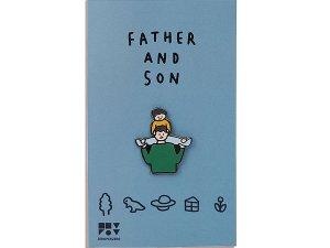 パパと息子 ピンバッジ
