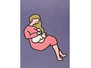ママと赤ちゃんとミルク A3ポスター