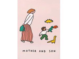 MOTHER AND SON 恐竜あそび A3ポスター