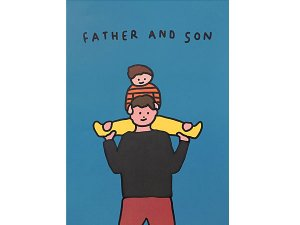 FATHER AND SON 肩ぐるま A3ポスター