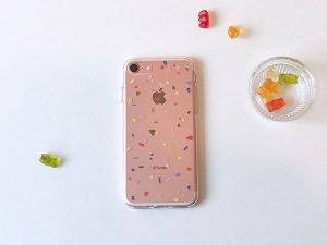 セットンチョガッポholy pop jelly柄のiPhoneケース(クリアソフトタイプ2・iPhone6、7、8、X、7+、8+)