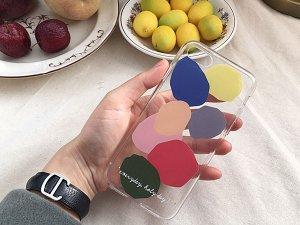 セットンチョガッポholy pop jelly柄のiPhoneケース(クリアソフトタイプ1・iPhone6、7、8、X、7+、8+)
