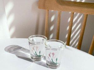 フラワーソジュグラス:木蓮ペアセット(2カラー)