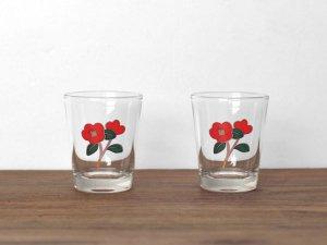 フラワーソジュグラス:椿ペアセット