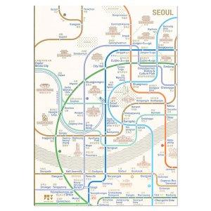 ソウル路線図フリーノートA5