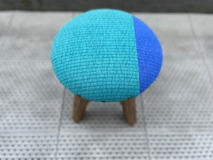 ヌビマカロンスツール(青緑とブルー)