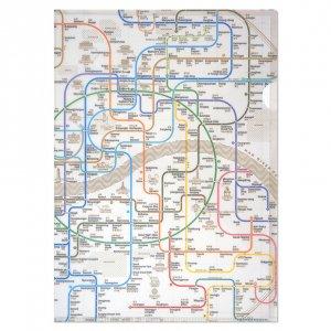 ソウル路線図クリアファイル