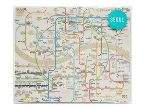 ソウル路線図マップ/マウスパッド(2カラー)