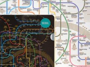 ソウル路線図マップ/クリアファイル(2カラー)