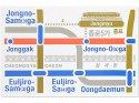 ソウル路線図マップ/ポストカード・宗廟(ブルー)