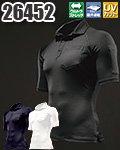 商品詳細へ:KD 26452 KURODARUMA コンプレッション半袖ポロシャツ 脇スリット