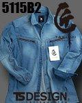 商品詳細へ:TS DEDESIGN® 5115B2 匠BLACKブリーチ 長袖シャツ