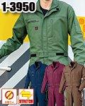商品詳細へ:山田辰 1-3950 ツヅキ服 帯電防止+ストレッチ素材