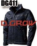 商品詳細へ:KD DG411 D.GROW スットレッチデニム長袖ジャンパー 迷彩プリント