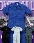 商品詳細へ:SOW 39017 カラー半袖ツナギ服 〔ポリエステル65%綿35%〕