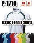 商品詳細へ:WD P-1710 【吸汗速乾】ベーシックテニスシャツ