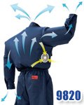 商品詳細へ:山田辰 9820[空調服]長袖ツナギ服