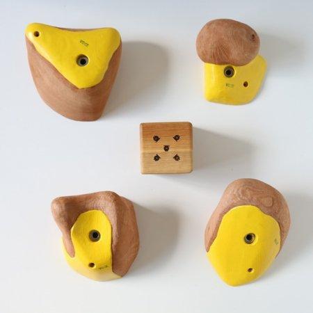 カラーリング木製クライミングホールド(ボルトオン) �2