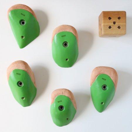 カラーリング木製クライミングホールド(ボルトオン) �4