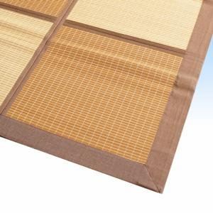 バンブー(竹)ラグ 「ネクスト」 BR 180x240cm 【天然素材、裏貼】